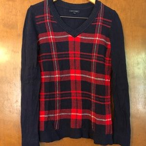 Women's Tommy Hilfiger plaid sweater.